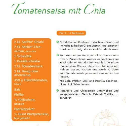 Salsa mit Chiaoel Rezept