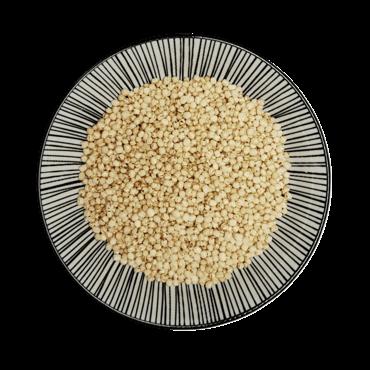 Bio Quinoa, gepoppt